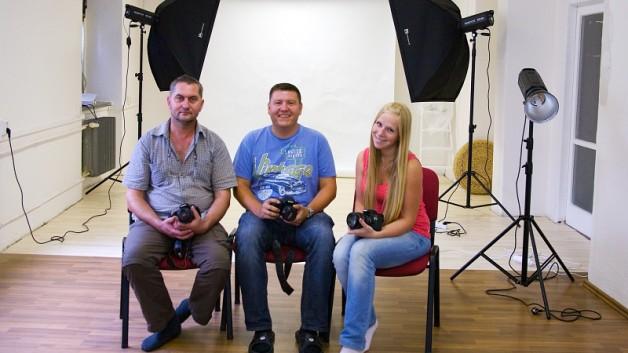 účastníci kurzu základy fotografování v Ostravě